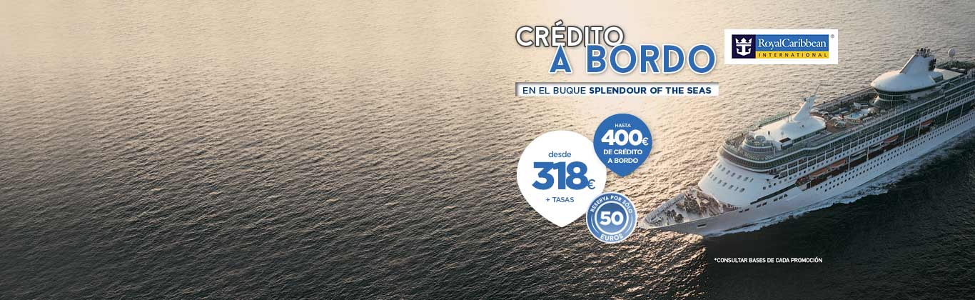 Royal Caribbean crédito a bordo