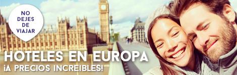 Hoteles Baratos en Europa, París, Londres, Roma, Lisboa