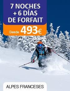 Esquí en Alpes Franceses