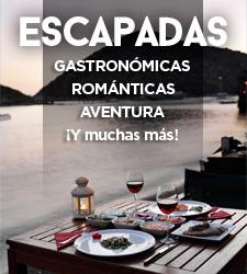 Escapadas gastronómicas, de aventuras, esquí, de montaña, en familia...