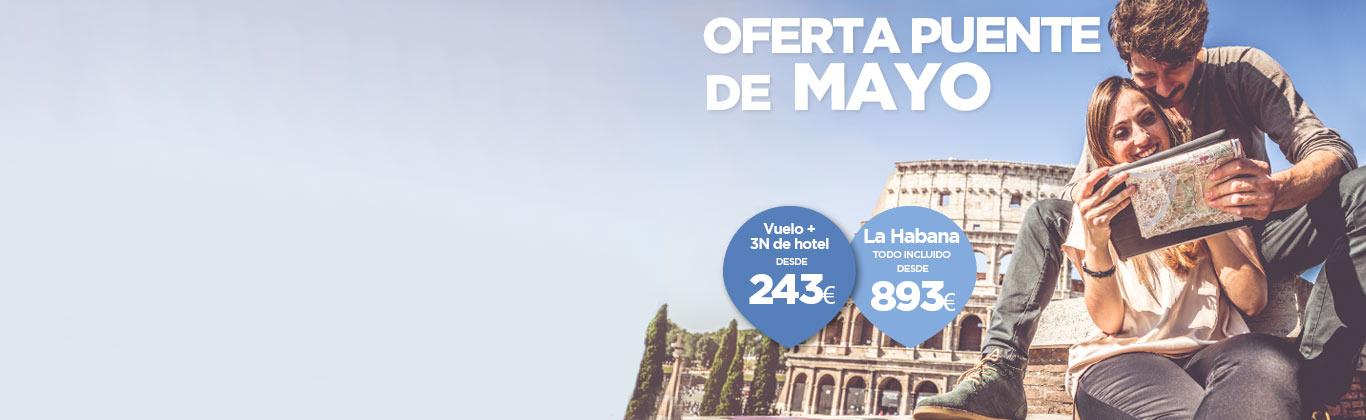 Ofertas puente de Mayo