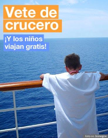 Vete de Crucero con los niños gratis
